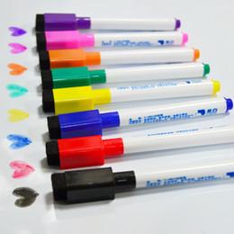Imanes de la escuela online-8Pcs Magnetic Whiteboard Pen, Dibujo y Grabación de Imán Borrables Marcadores de Tablero Blanco Seco Para Útiles Escolares de Oficina