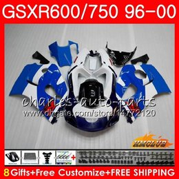 Le scarpe blu di srad online-Corpo per SUZUKI SRAD GSXR-600 GSXR750 1996 1997 1998 1999 2000 1HC.22 GSX-R750 Factory blu GSXR 750 600 GSXR600 96 97 98 99 00 Kit carena