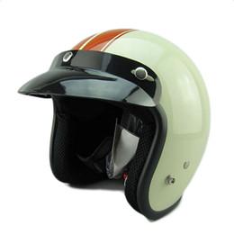 Motosiklet kask retro vintage motokros kask 3/4 açık yüz scooter kaskları M ~ XXL Motosiklet Unisex Vintage Açık Yüz cheap scooter helmet xxl nereden scooter kask xxl tedarikçiler
