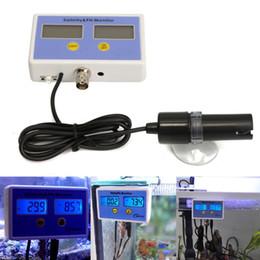 ph misuratore di conducibilità Sconti ZEAST Misuratore di qualità Monitor 2 sonde Set Acquario portatile Conduttività elettronica Misuratore di temperatura salinità Valore PH On line
