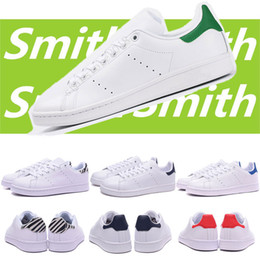 best sneakers 73240 2d4bf Adidas smith Vente chaude smith hommes femmes chaussures stan noir blanc  rouge bleu argent rose baskets smith Casual chaussures leathe taille 36-44