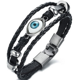 2021 armband teufel auge  Devil's Eye Armband Black Stone Armband Hip Hop Herrenarmbänder European and American Wind Alloy Jewelry