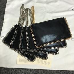2019 grandes bolsos de piel sintética Designer- al por mayor cadena de Stella, oro, plata bolsos del teléfono móvil de bolsillo de las mujeres forma de ráfaga monedero de la señora