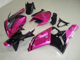 Nuevos kits de carenados completos de motocicleta ABS aptos para kawasaki Ninja ZX6R 636 2003 2004 03 04 6R 600CC juego de carrocería personalizado rosa negro desde fabricantes