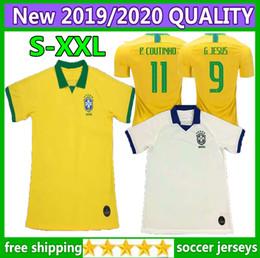 61112eee7eb Size S-XXL 2019 NEW Coutinho soccer jersey 19 20 Brazil home away Gesus  Firmino Casemiro D.Costa Marcelo Willian NEYMAR football shirt