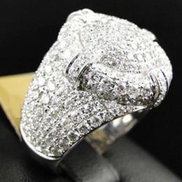 Nuevo anillo nupcial online-Nuevo diseño para las mujeres de moda 925 plateado blanco brillante anillo de diamante redondo nupcial comprometido anillo de bodas tamaño 5-12