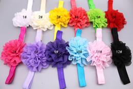 Robe en dentelle fleurie fille en Ligne-Bébé filles dentelle mousseline de soie creuser fleur bandeau élastique bandeau habiller enfants