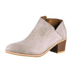 d7702c199 Plus Size Retro Mulheres Botas Sapatos de Salto Chunky Diário Zip  Respirável Sapatos Confortáveis Femininos Nova Primavera Pu Couro