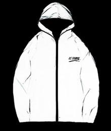 Canada Nouvelle veste réfléchissante 3m pour hommes / femmes vestes harajuku coupe-vent à capuche hip-hop streetwear nuit manteaux brillants veste 3m cheap full reflective jacket Offre