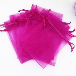 Bolsas de embalaje de joyería 100 unids / lote 11x16 cm Con cordón Organza Bolsas de almacenamiento Caramelos Snacks Regalos Bolsas de paquetes para el banquete de boda desde fabricantes