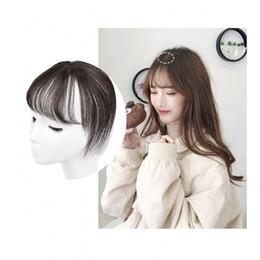 Sara 3D 100% Franja de cabelo natural humana Franja 360 ° Frontal Stealth Não-Traço Clipe de estrondo de cabelo na peça de cabelo Peruca Extensão 8 * 20cm de
