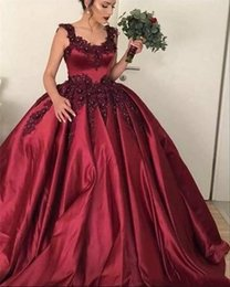 trendige quinceanera Rabatt Trendy Satin Perlen Quinceanera Kleider Ball Applique Riemen Sweet 16 Plus Size Long Girl Prom Party Kleid Formelle Kleider bodenlangen