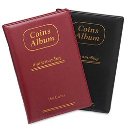 coin collection album Promo Codes - 2019 New 10 Pages 150 Pockets PU Leather Waterproof World COIN STOCK Album Coin Collection Book Vertical Style
