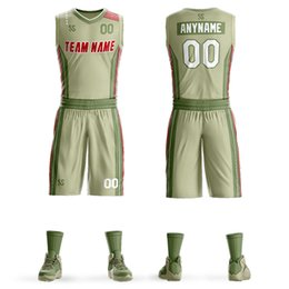 435a1a9b2d4 Men s Tracksuits basketball jerseys set blank training jersey set pockets tracksuits  breathable adult team basketball uniforms customized