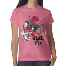 Papel de parede rosa vintage on-line-Design de impressão das mulheres Ataque em titã wallpaper filme design da camisa de t rosa engraçado designer de camisas do campeão do vintage impressionante camiseta criador