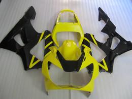 Honda cbr 929 rr verkleidungen online-Einspritzverkleidungskörper Kit Für HONDA CBR900RR 00 01 CBR 900 RR CBR 900RR 929 2000 2001 Gelb schwarz Verkleidungssatz