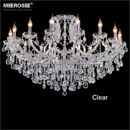 Kristall klassiker für wohnzimmer online-Classic Crystal Kronleuchter Leuchte Hotel Maria Theresa Crystal Moderne Pendelleuchte für Lobby Foyer Wohnzimmer MD8477