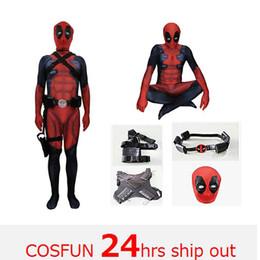 2019 cosplay catsuit deadpool Deadpool version épée-combat Deadpool cosplay muscle Costume Wade Wilson Costume Rouge Cosplay Jumpsuit cosplay catsuit deadpool pas cher