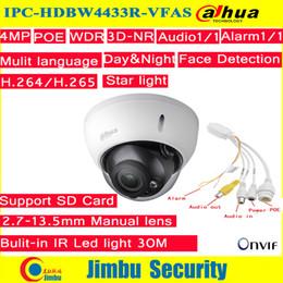 manuel de carte sd Promotion Caméra IP Dahua 4Mp POE IPC-HDBW4433R-VFAS 2.7-13.5mm Zoom manuel avec fente pour carte SD Caméra Starlight
