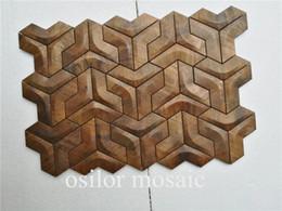 teja de mosaico del metal del azulejo de mosaico del ccopper para la decoración del hogar azulejo de la pared del estilo MM126 del vintage desde fabricantes