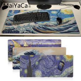 2019 ноутбуки япония Maiyaca свой Маты Япония волна картина искусства Офис Мыши Gamer Soft Mouse Pad Ноутбук PC Компьютер Коврик Большой коврик игровой коврик для мыши дешево ноутбуки япония