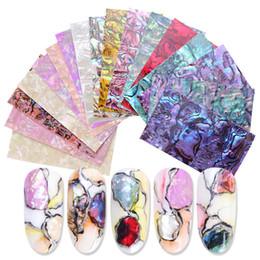 15 styles Shell marbre transfert autocollant Nail Art Feuille 3D holographique Slider Wrap ongles adhésif Decal Manucure Décoration ? partir de fabricateur