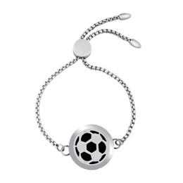 25mm Futbol Aromaterapi Difüzör Bilezik Ayarlanabilir Paslanmaz Çelik Esansiyel Yağı Difüzör Locket Bilezik Kadınlar Takı Hediye nereden