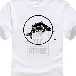 New Angling T Shirt Fish Bait Carp Funny Tops Fashion Men High Quality Men  T Shirts O Neck Men Clothings Men s Casual Dress