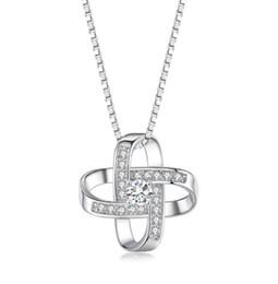 2019 pendentes para sempre Designer de colar de designer de jóias de luxo mulheres colar para sempre coração sorte anéis pingente com corrente de caixa de jóias por atacado barato desconto pendentes para sempre