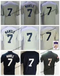 783808d69 camisas de beisebol Desconto Mens Vintage New York 1951 Mickey Manto Jersey  Jersey Cinza   7