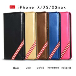rainbow wallet case Coupons - Multifunction Suck Magnetic Leather Wallet Case For Iphone XS MAX XR X 10 8 7 6 Rainbow Closure Flip Cover Holder Frame ID Card Slot Pouch