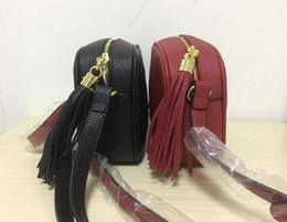 borlas de cuero para bolsos Rebajas Nuevo estilo de alta calidad para mujer Moda mujer diseñador de cuero de la borla Soho bolso Disco hombro bolso monedero bolsos con bolsa de polvo