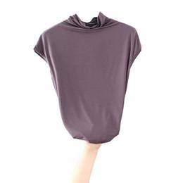 Argentina 2019 Top camiseta ocasional de las mujeres cuello alto flojo sin mangas de la camiseta túnicas caliente del verano ropa de mujer cheap tunic shirts for women Suministro
