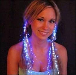Fibra óptica intermitente partido on-line-Maxi piscando Braid, Optical Fiber Hairpin peruca peruca, Bling Decoração, para a festa de aniversário, bar, discoteca, dia de Natal