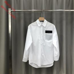 Padrões de vestido de manga longa on-line-Nova marca de vestido dos homens camisas moda casual camisa estilo simples homens fantasia blusa de manga longa padrão letras imprimir slim fit camisas tb4