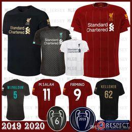 2019 camisetas de fútbol de calidad tailandesa ee. M.SALAH Fútbol 10 MANÉ FIRMINO MILNER HENDERSON Wijnaldum VAD DIJK 2019 2020 camiseta de fútbol camiseta de fútbol 18 ALBERTO.M