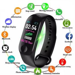 2020 ritmo cardíaco do rastreador de atividade impermeável relógio M3 Além disso impermeável relógio inteligente M3Plus Bluetooth Assista Pulseira de Fitness Rastreador Heart Rate Atividade Pulseira esperto esporte ritmo cardíaco do rastreador de atividade impermeável barato