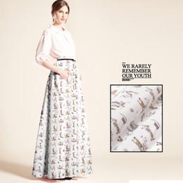 tecidos para impressão digital Desconto Nova seda Crepe caracteres Chineses impressão digital tecido de seda tecido diy vestido de saia vestido de estilo Chinês