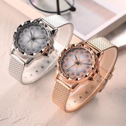 Relojes de moda de plastico damas online-2019Nuevo reloj de la fortuna con incrustaciones de diamantes reloj de cuarzo con cinta de plástico para mujer