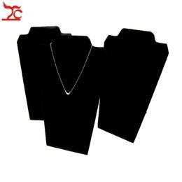 Envoltório de veludo preto on-line-Jóias Display Stand Colar Titular Colar Placa Envolto em Preto De Veludo Pescoço Stand Cavalete para a Loja Jewellry
