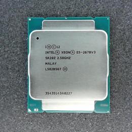 Server cpu della scheda madre online-Intel Xeon E5 2678 V3 CPU 2.5G Servire LGA 2011-3 e5-2678 V3 2678V3 Processore per PC Desktop Per scheda madre X99