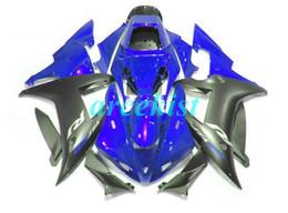 yamaha r1 carenagem preta Desconto Novas carenagens da motocicleta ABS Compression Mold Fit Para Yamaha YZF-1000-R1 2002-2003 02 03 Fairing lataria de costume azul fosco preto
