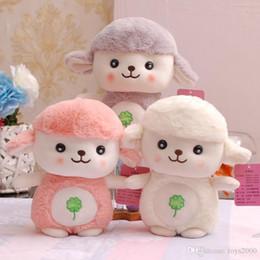 Plüschtiere lämmer online-25cm nettes Lammplüschspielwaren pp. Baumwollschafpuppebaby, das Geschenkeinzelhandel der schlafenden Spielzeugkinder begleitet