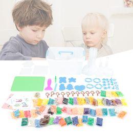 2019 contas de papel Grânulos de água pegajosa com pegboards pinça papel de engomar para crianças iniciantes arte artesanato brinquedos contas de papel barato