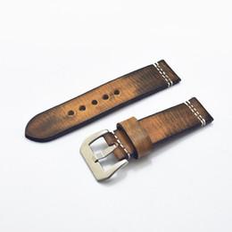 толстые мужские часы Скидка Onthelevel ручной работы 20 22 24 мм натуральная кожа наручные часы ремешок старинные ретро толстая полоса мужской ремень