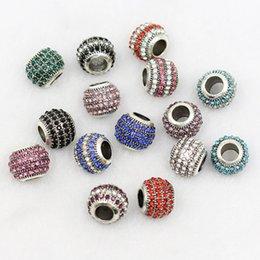 2019 silberperle 12mm DIY Tibetischen Silber Legierung Lose Perlen Diamant Perle 10 * 12mm 10 Farbe Legierung Lose Perlen Frauen Schmuck Charme BraceletNecklace günstig silberperle 12mm