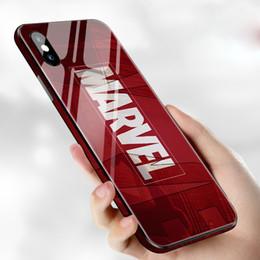 iphone аниме Скидка Marvel Аниме Железный Человек Телефон Чехол для телефона Противоскользящее стекло ТПУ Защитный чехол для iPhone XS Max XR 8 7 6 6s
