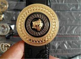 cinture di marca superiore per gli uomini Sconti Top Luxury Medusa Designer Brand Cintura di alta qualità con fibbia massiccia Cintura di cuoio originale per uomo