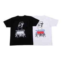 Logo t-shirt on-line-Box Logo Mens T Shirts Mens Designer camisetas Homens Mulheres Moda camisas, T Black White Tamanho M-XXL