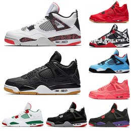 promo code ac629 c6228 nike air retro jordan 4s züchtete 4 Herren Basketballschuhe 4s schwarz rot  PALE CITRON Weißzement PURE MONEY OREO ALTERNATE Wings Herren Sportschuhe  JUMPMAN ...